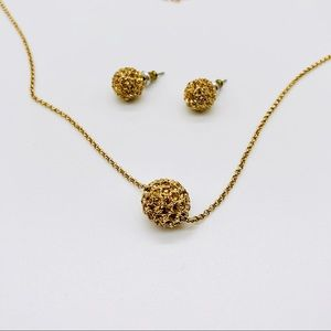 Monet Costume Jewelry Necklace and Earrings Set